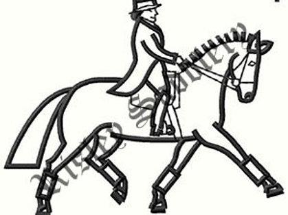 Dressage Horse Logo #2