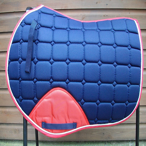Jump Navy/Red Pony/Cob Size Saddle Cloth