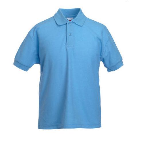 Adult Polo Shirt Light Blue