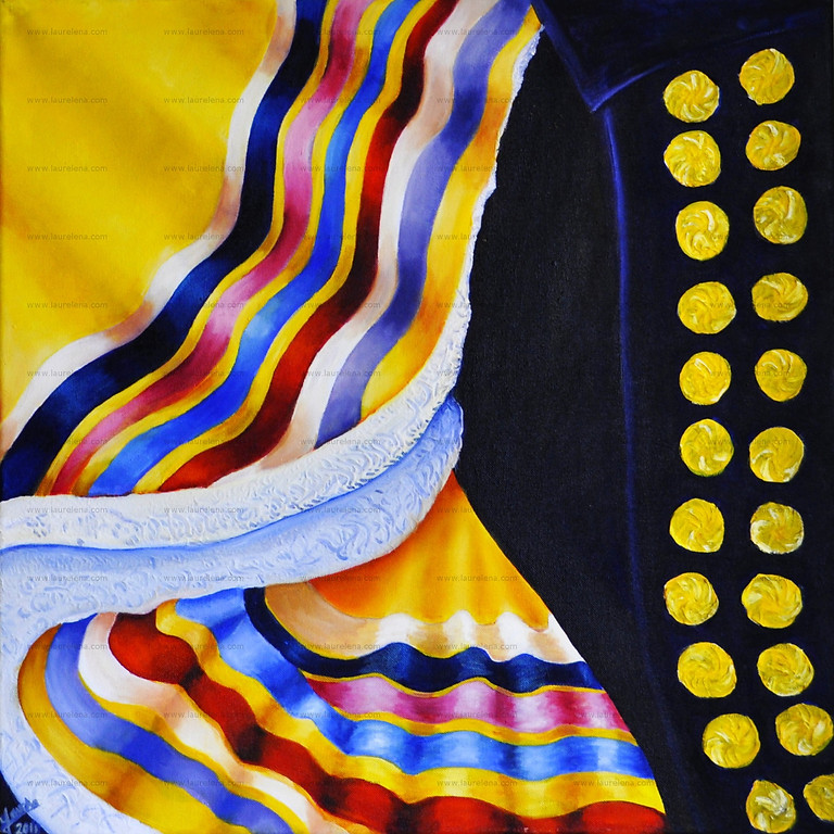 Exhibition of paintings colors of México