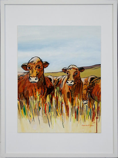"""""""Cows in the Grass"""" by Carole Massey"""