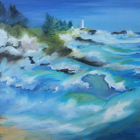 """Blur of Waves"" by Carole Massey"