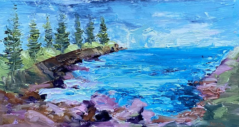 """""""Stormy Bay"""" by Kathy Karas"""
