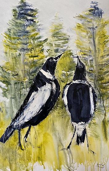 """""""Warbling Duo"""" by Kathy Karas"""