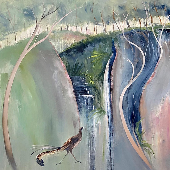 """""""The Lyrebird and the Rock"""" by Kathy Karas"""