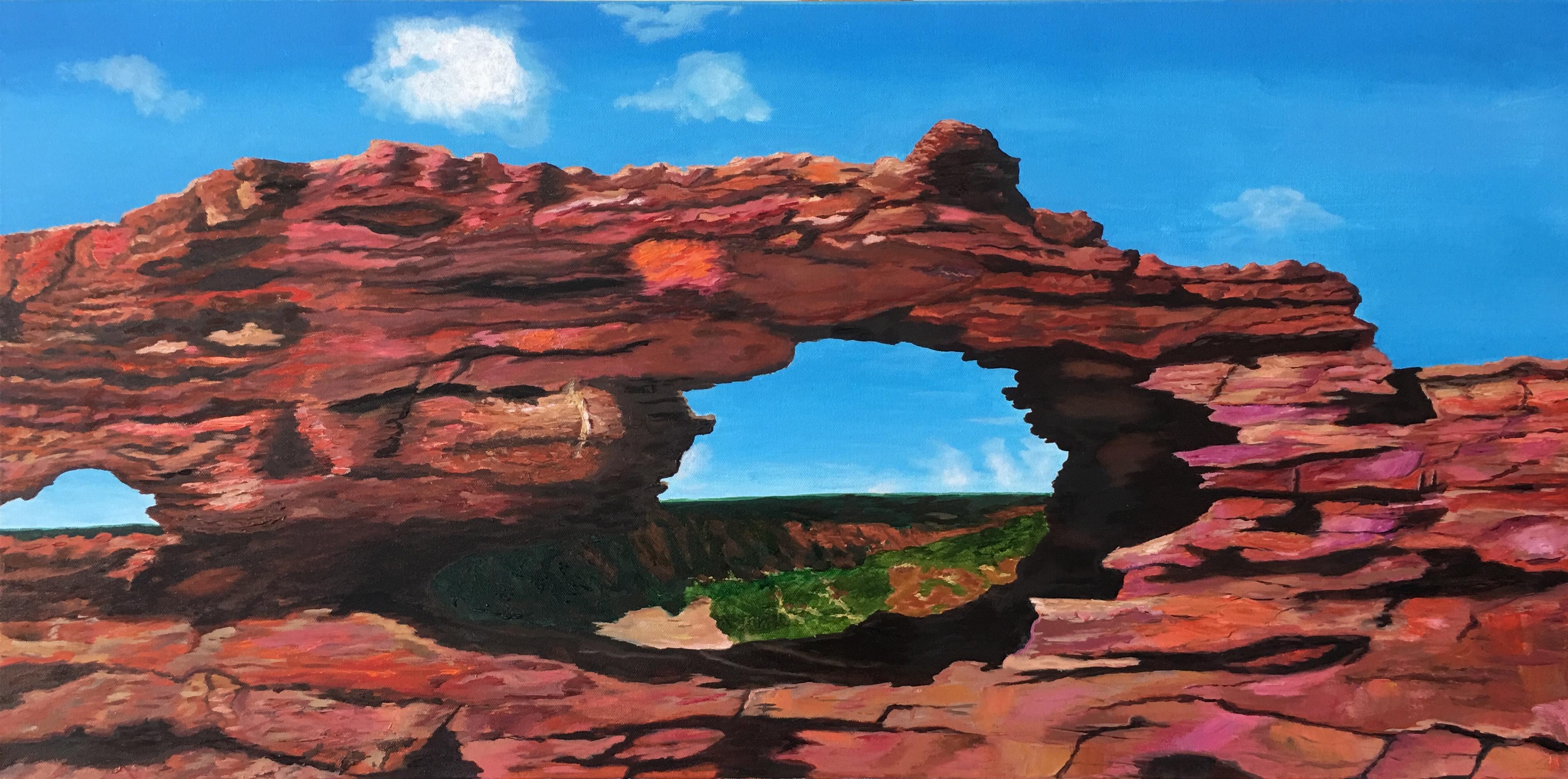 Natures Window, 90x45x3.5, oil.JPG