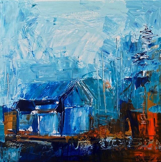 """""""Boat Shed"""" by Kathy Karas"""