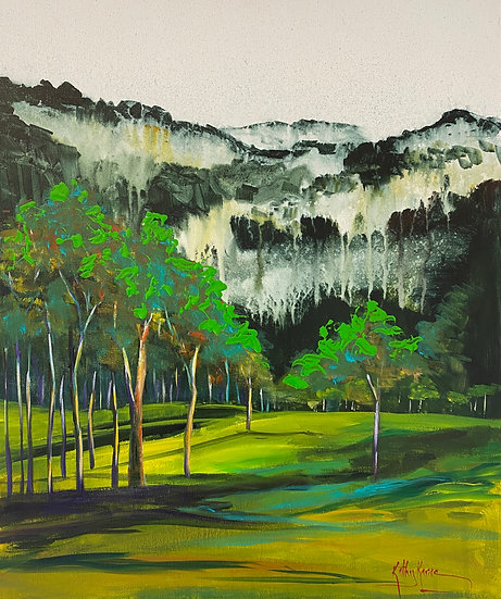 """Misty Mountain"" by Kathy Karas"