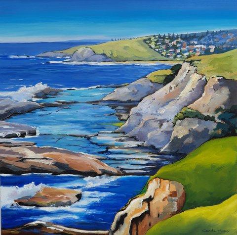 """Rock Ledges from Coastal Walk"" by Carole Massey"
