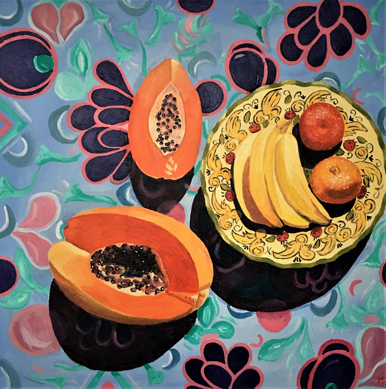 Fruits, 45.7 x 45.7, acrylic.JPG