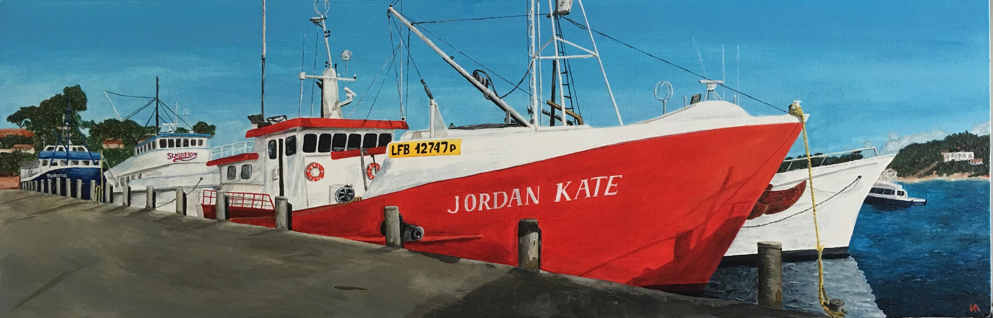 Fishing Boats , 91.4x30.5x3.5, acrylic.J