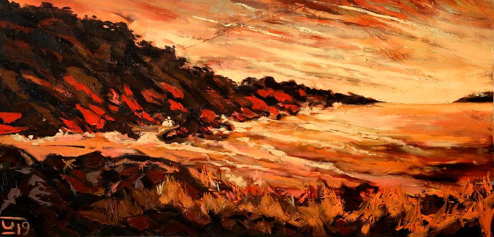 """Surf Beach Sunset"" by Karolina Venter"