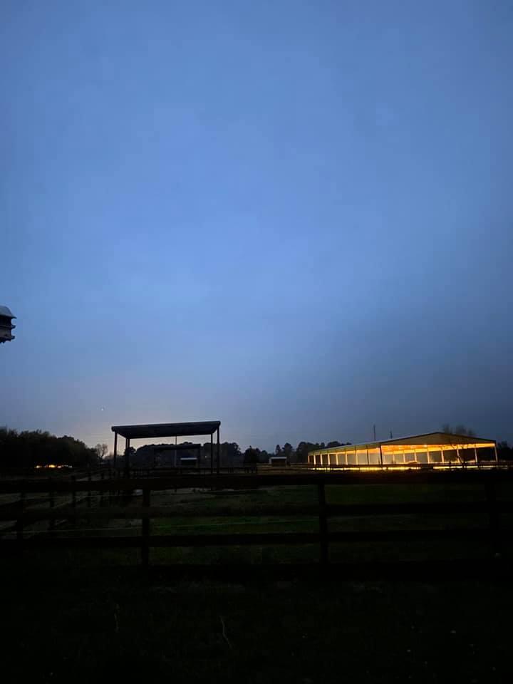 Live Oaks Lane lighted arena