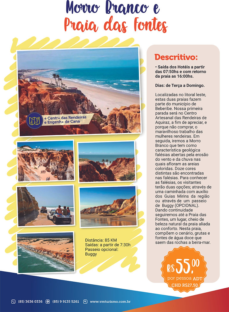 Praia de Morro Branco e Praia das Fontes