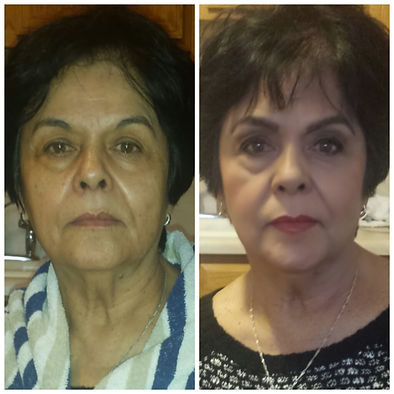 older women makeover, makeover, makeup by s michaels, wedding makeup