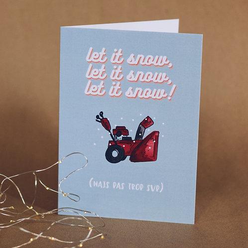Carte - Let it snow