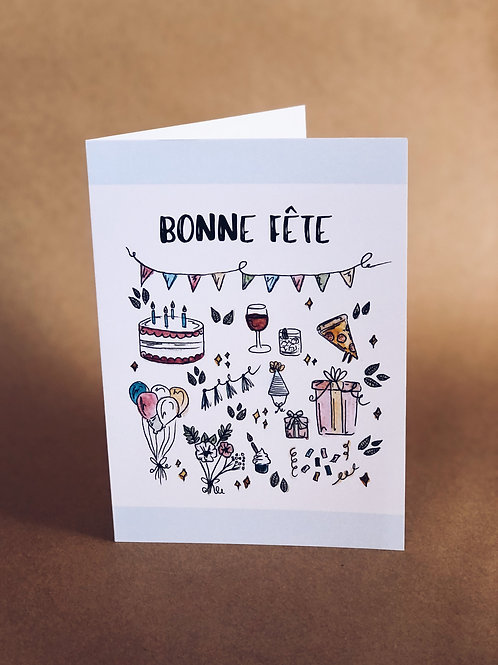 Carte - Bonne Fête