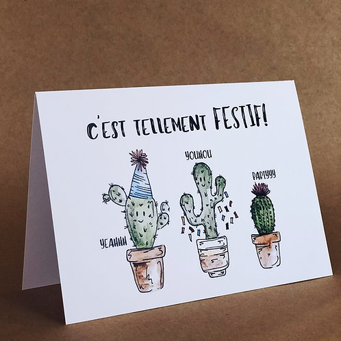 Carte - Cactus partyyy