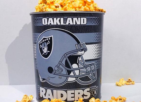 Collectible Oakland Raiders OneGallon tin