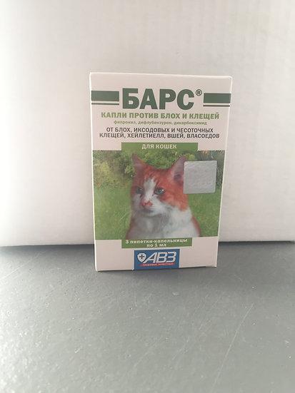 Барс капли на холку для кошек