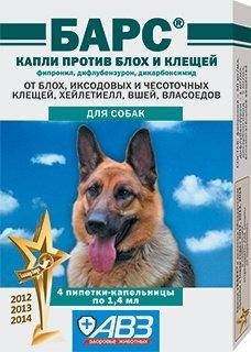 Барс капли на холку для собак