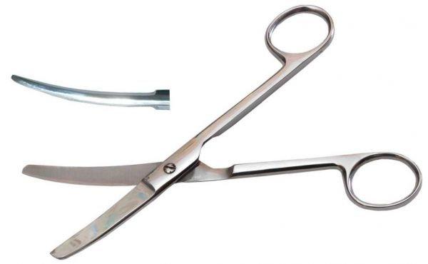 Ножницы тупоконечные вертикально-изогнутые, 170 мм