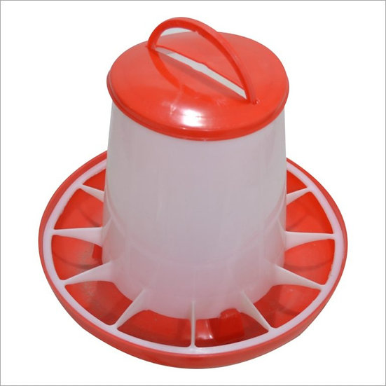 Кормушка с крышкой (красно-белая) PF-001 7кг