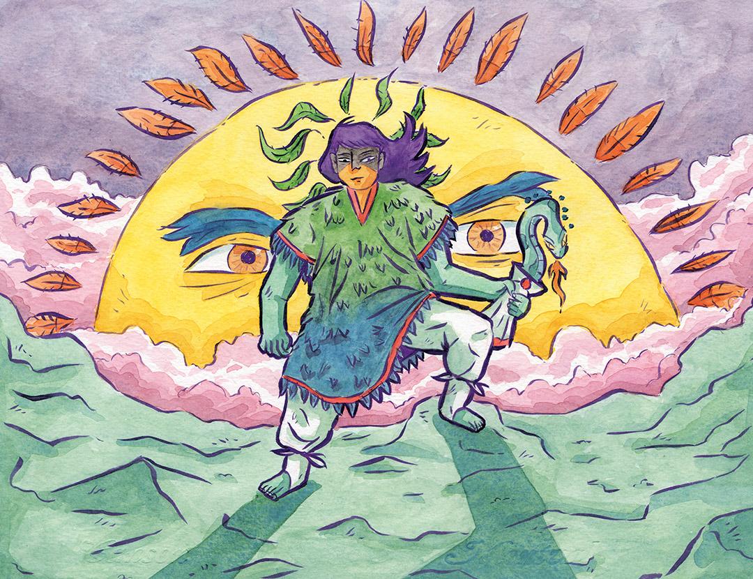 El nacimiento de Huitzilopochtli