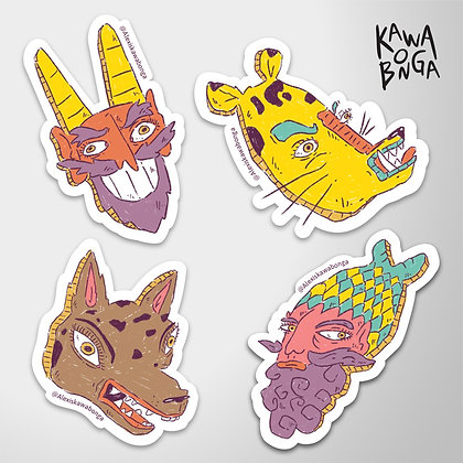 Sticker pack «Máscaras»