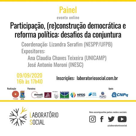 Laboratório Social   Participação, (re)construção democrática e reforma política: desafios da conjun