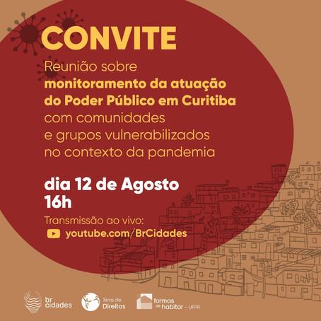 Reunião sobre monitoramento da atuação do Poder Público em Curitiba