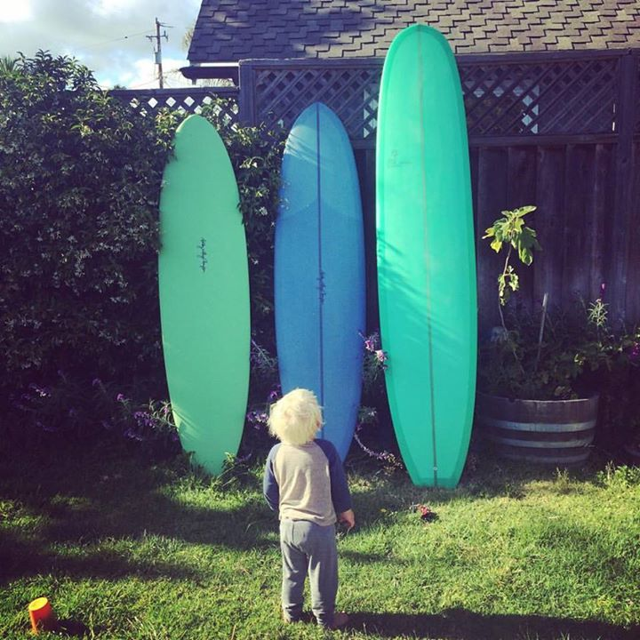 Check out the quiver going to the grand premier of Women and the Waves II in Santa Barbara tonight,