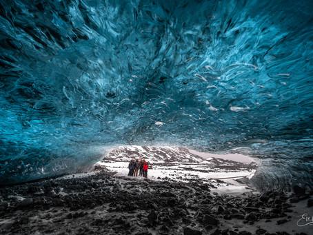 Sapphire Ice Cave in the rain