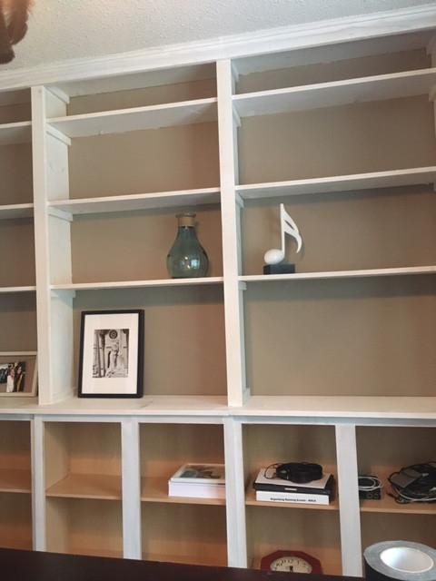 Staining bookshelves