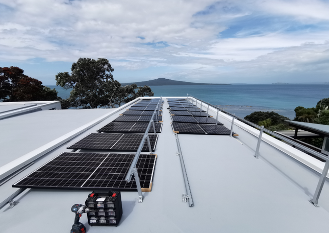 Residential powered by solar in high wind zone
