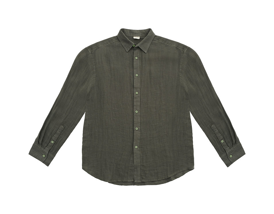 ORION linen shirt - olive