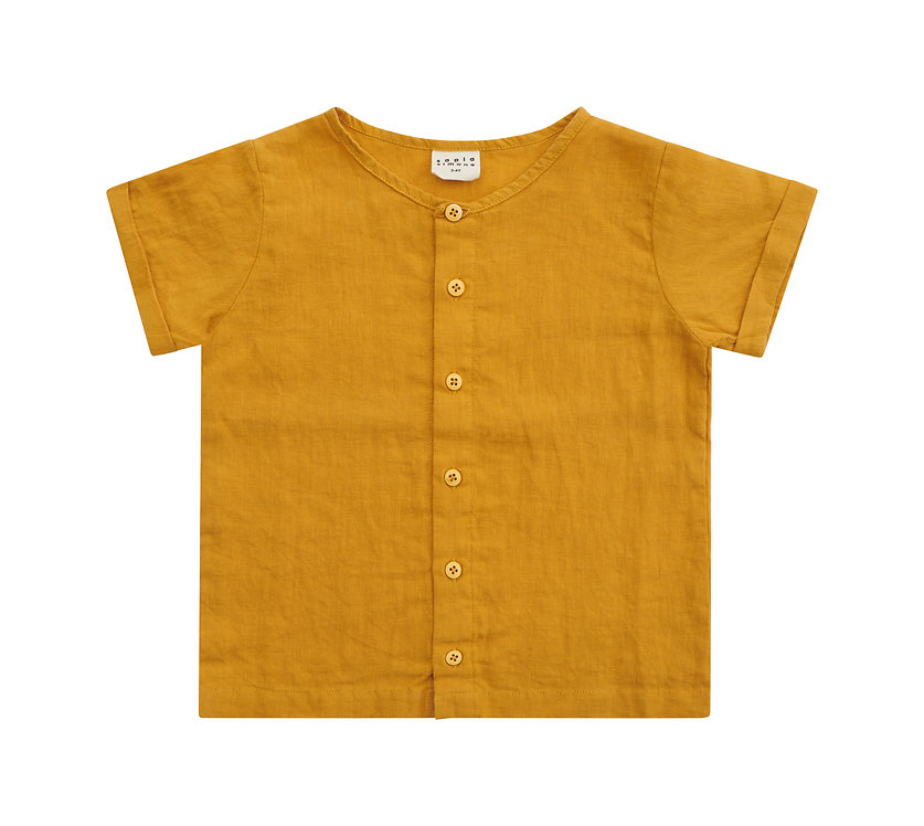 LOLLO linen shirt - mustard