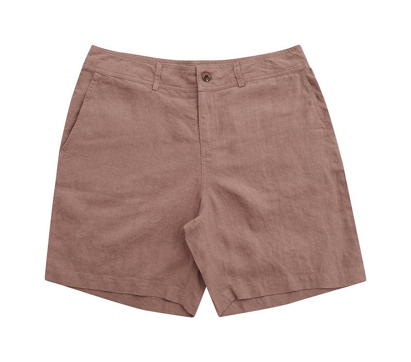ODYSSEY linen shorts - almond