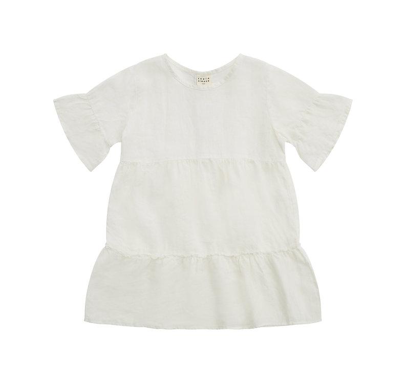 MADELINE linen dress - white