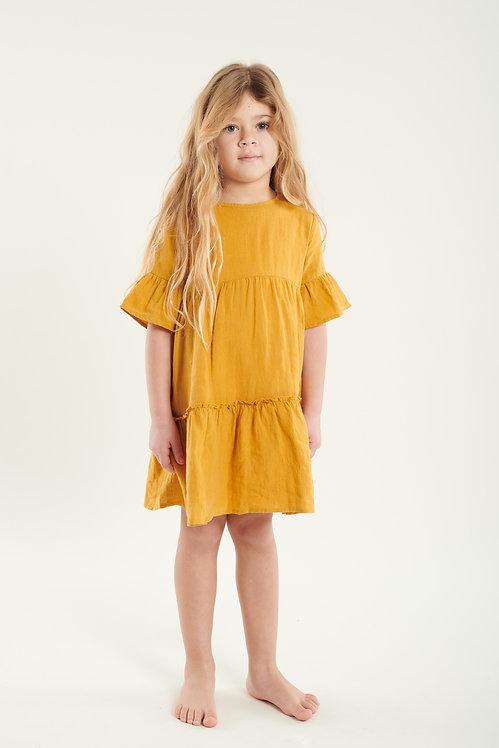 MADELINE linen dress - mustard