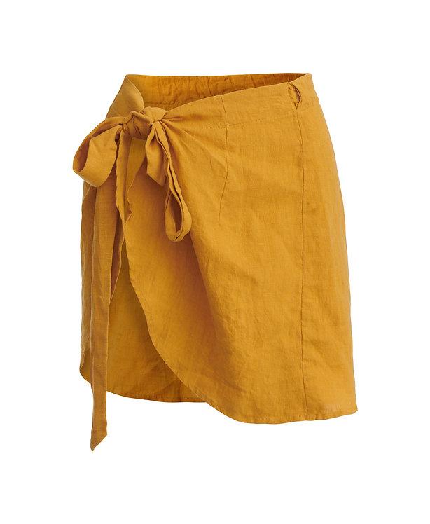 PLAYA linen skirt - mustard