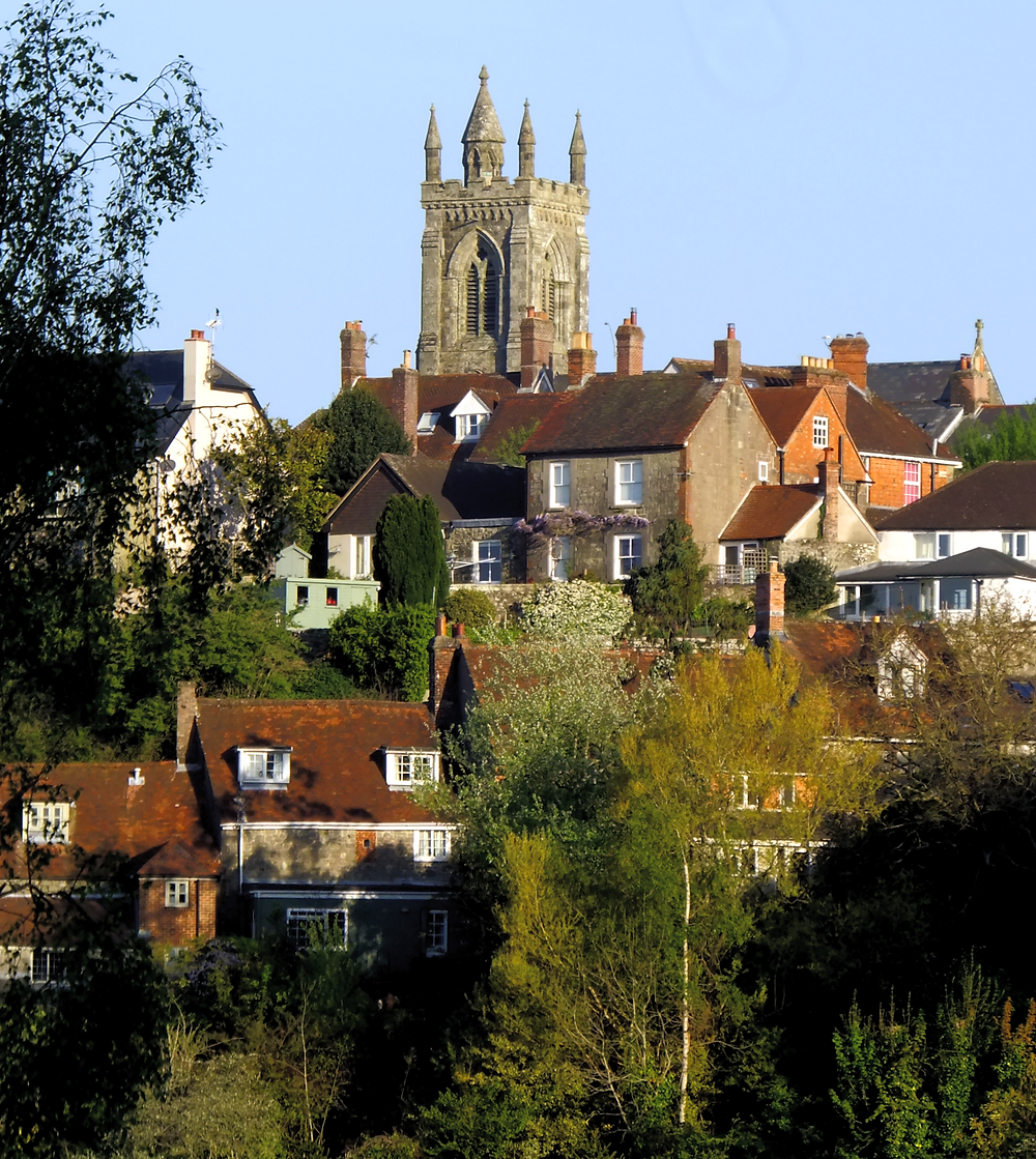 Gold Hill, Shaftesbury, taken from Great Lane