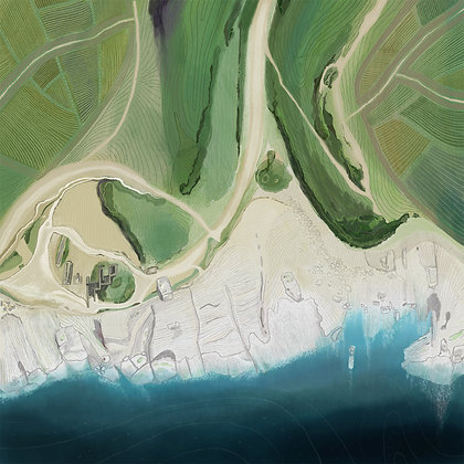 Digital print of aerial view of Winspit