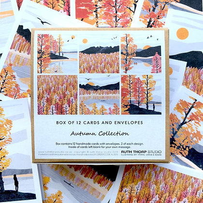 The Autumn Collection - box of 12 cards