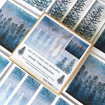 The Winter Trees collection - box of 12 cards