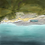 Digital illustration of an aerial view of Dancing Ledge
