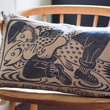 Peaceable Kingdom fisherman cushion