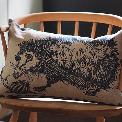 Peaceable Kingdom hedgehog cushion