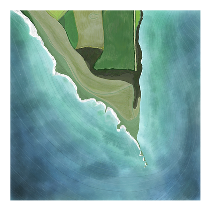 Limited edition print of aerial view of Old Harry Rocks