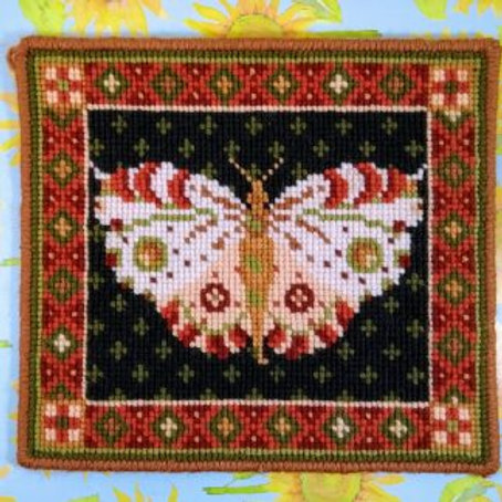 Animal Fayre Designs White Butterfly Tapestry Kit